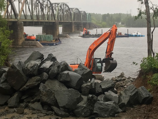 Miramichi Train Bridge work has started